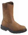 Wolverine Worldwide W04727 11.5EW Slip-Resistant Work Boots, Extra Wide, Brown Nubuck Leather, Men's Size 11.5