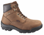 Wolverine Worldwide W05484 10.5EW Durbin Waterproof Work Boots, Extra Wide, Brown Nubuck Leather, Men's Size 10.5