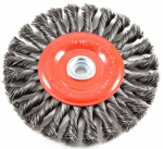Forney Industries 72749 Twist-Knot Wheel Wire Brush, 6-In.