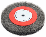 Forney Industries 72750 Coarse Crimped Wire Bench Wheel Brush, 6-In.