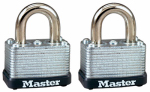 Master Lock 22T 2-Pack 1-1/2 Inch Warded Steel Laminated Keyed-Alike Padlock