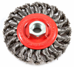 Forney Industries 72759 Twist-Knot Wire Wheel Brush, 4-In.