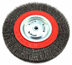 Forney Industries 72762 Wide-Face Crimped Wire Bench Wheel Brush, 8-In.