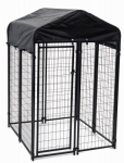 Jewett Cameron CL 60544 Uptown Pet Kennel, Welded Wire, 4 x 4 x 6-Ft.