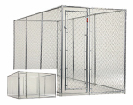 Jewett Cameron CL 61528EZ Champion Dog Kennel, Box Chain Link, 6 x 5 x 15-Ft.