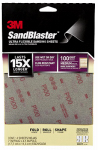3M 28100SB-UF4 Sandblaster Sandpaper, Medium 100 Grit, 4-Sheet Pk.