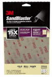 3M 28150SB-UF4 Sandblaster Sandpaper, Medium 150 Grit, 4-Sheet Pk.