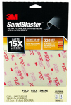 3M 28320SB-UF4 Sandblaster Sandpaper, X-Fine 320 Grit, 4-Sheet Pk.