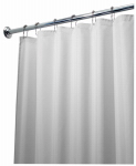 Interdesign 14962 Shower Curtain Liner, White Polyester, 72 x 84-In.