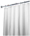 Interdesign 15062 Shower Curtain Liner, White Polyester, 72 x 96-In.