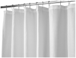 Interdesign 22980 Shower Curtain, White Waffle Weave Polyester, 72 x 84-In.