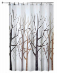 Interdesign 45020 Shower Curtain, Forest, Polyester, 72 x 72-In.