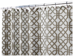 Interdesign 45420 Shower Curtain, Trellis, Polyester, 72 x 72-In.