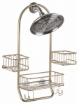 Interdesign 60585 Classico Swing Shower Caddy, Satin Steel