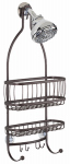 Interdesign 61971 York Lyra Shower Caddy, Bronze