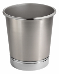 Interdesign 76550 York Bath Waste Can, Split Metal Finish