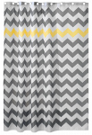 Interdesign 43020 Shower Curtain, Chevron, Polyester, 72 x 72-In.