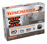 Winchester Ammunition X20RSM5 Ammunition, Super-X Rifled Hollow-Point Slug, 20-Ga., 2.75-In., 5-Rounds