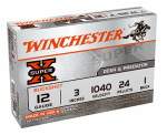 Winchester Ammunition XB1231 Ammunition, Super-X Buckshot #1, 12-Ga., 3-In., 24 Pellet, 5-Rounds