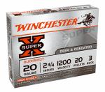 Winchester Ammunition XB203 5RND 20GA 2-3/4Buckshot