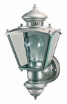 Heathco HZ-4150-SV Charleston Coach Lantern, Motion-Activated, Silver, 100-Watt
