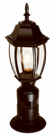 Heathco HZ-4392-BK Post Light, Motion-Activated, Black, 100-Watt