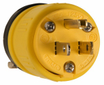Pass & Seymour 1447 Rubber Plug, Yellow, 15-Amp, 125-Volt