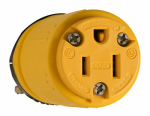 Pass & Seymour 1547 Rubber Connector, Yellow, 15-Amp, 125-Volt