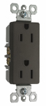 Pass & Seymour 885TRDBCC12 Child Safety Receptacle, Dark Bronze, 15-Amp, 120-Volt