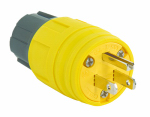 Pass & Seymour PS14W47CCV3 Watertight Plug, Yellow, 2-Pole, 15-Amp, 125-Volt