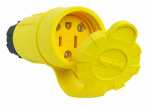 Pass & Seymour PS15W47CCV3 Watertight Connector, Yellow,  2-Pole, 15-Amp, 125-Volt