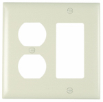 Pass & Seymour TP826LACC12 Wall Plate, 2-Gang, Decorator & Duplex, Light Almond Nylon