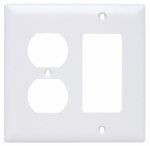 Pass & Seymour TP826WCC12 Wall Plate, 2-Gang, Decorator & Duplex, White Nylon