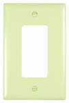 Pass & Seymour TPJ26I Wall Plate, Junior Jumbo, 1-Gang Decorator, Ivory Nylon