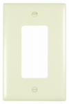 Pass & Seymour TPJ26LA Wall Plate, Junior Jumbo, 1-Gang Decorator, Light Almond Nylon