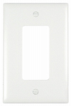 Pass & Seymour TPJ26W Wall Plate, Junior Jumbo, 1-Gang Decorator, White Nylon