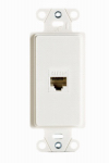 Pass & Seymour WP3210WHV1 Wall Jack, Cat5e/RJ45, 1-Port, White