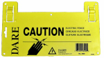 Dare Products 3400 Electric Fence Warning Sign, Yellow, 5 1/2 x 9-In.