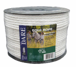 Dare Products 3095 Electric Fence Rope, White, Polyethylene With Stainless Steel Wire, 5/64-In. x 656-Ft.