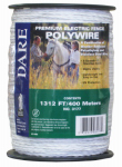 Dare Products 3177 Electric Fence Wire, White, 1,312-Ft.