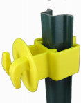 Dare Products SNUG-LGU-25 Electric Fence U-Post Insulator, Light Duty, Yellow, 25-Pk.