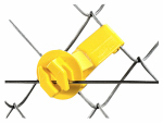 Dare Products SNUG-SU-25 Electric Fencing Insulator, Chain Link and U-Post, Yellow, 25-Pk.