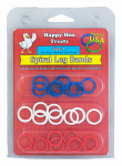 Happy Hen Treats 17021 Poultry Spiral Leg Bands, 3 Colors, Size 9, 26-Ct.
