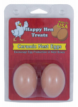 Happy Hen Treats 17055 Ceramic Nest Eggs, Brown, 2-Pk.