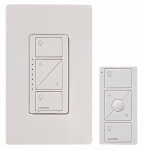 Lutron Electronics P-PKG1W-WH Caseta Wireless Single-Pole/3-Way Dimmer, 150-Watt, White