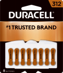 Duracell Distributing Nc 00279 Hearing Aid Battery, Size 312, 8-Pk.