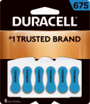 Duracell Distributing Nc 00433 Hearing Aid Battery, #675, 6-Pk.