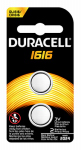 Duracell Distributing Nc 66296 Lithium Battery, #1616, 3-Volt, 2-Pk.