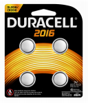 Duracell Distributing Nc 66389 Lithium Keyless Entry Battery, #2016, 3-Volt, 4-Pk.