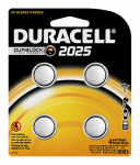 Duracell Distributing Nc 66390 Lithium Keyless Entry Battery, #2025, 3-Volt, 4-Pk.
